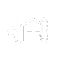 house with snowflake and thermometer icon